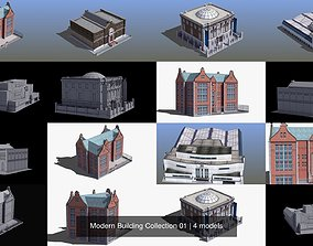 Modern Building Collection 01 3D model