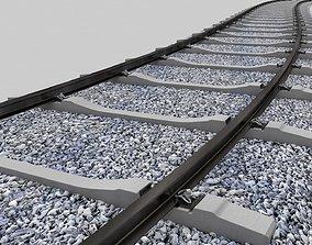 3D Realistic Railroad Module Set transport
