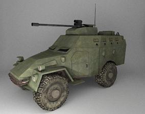 3D asset APC Army Tab Low Poly