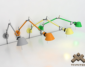 Artemide Tolomeo Wall lamp lighting 3D