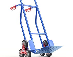 Stair climbing hand truck with six wheels 3D model