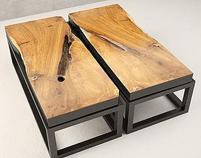 3D loft Teak Coffee Table