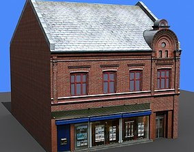 3D model European 19th century merchant house