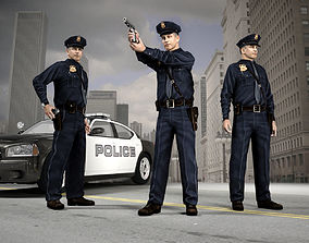 3D model American Policeman Character of NY