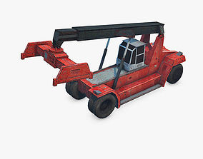 3D model trailer Reach Stacker