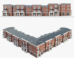 3D asset Apartment Complex 01