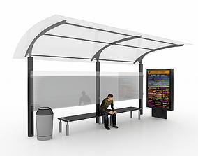 BUS STATION 3 3D model