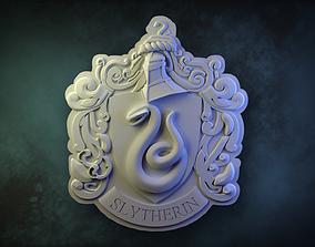3D printable model Slytherin House Crest
