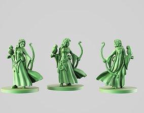 3D print model role Druid girl