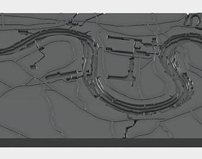 London Thames Nautical Chart 3D printable model