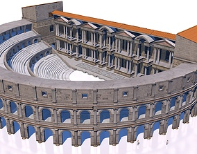 3D model classical roman theater