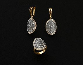 3D printable model lazuli Ring and Earrings