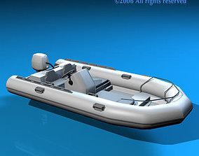 3D Zodiac boat watercraft