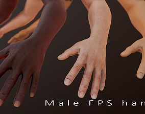 3D model realtime Male FPS Arms