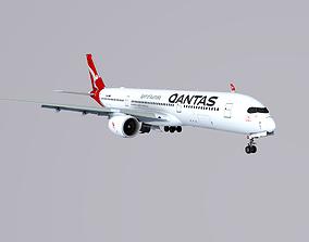 3D model Airbus A350-900 Qantas