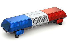 Emergency Light warning 3D model
