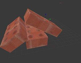 3D asset Brick Bricks