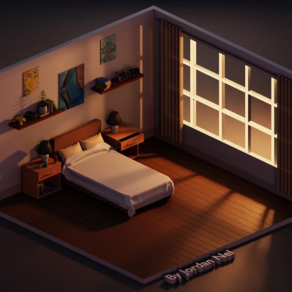 Stylized Bedroom