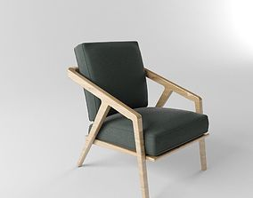 Katakana Lounge Chair 3D
