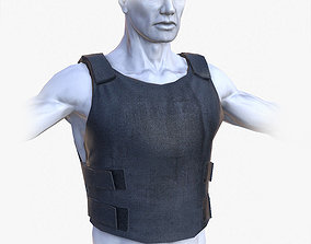 Lowpoly Police Bullet-Proof Vest 3D asset VR / AR ready