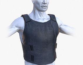 Lowpoly Police Bullet-Proof Vest 3D asset VR / AR ready