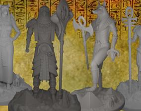 Egyptian God Miniatures 3D