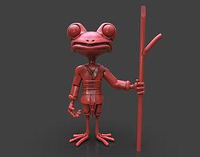Stylized Frog Ninja 3D print model