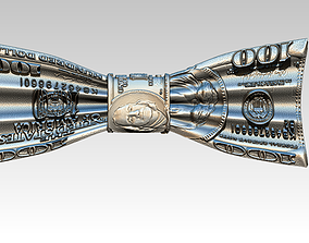 Dollar Money Bow Tie 3D print model