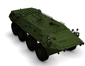 3D BTR-80 armored personnel carrier