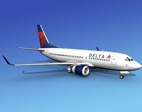 3D model Boeing 737-700ER Delta Airlines 1