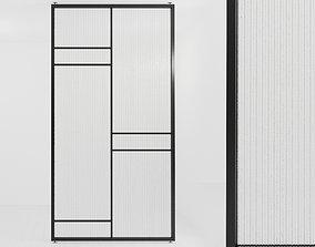Glass partition door 60 3D model