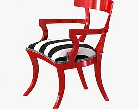 3D model red paint finish clismos chair
