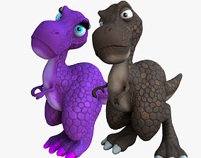 Larry and Lizzy Dinosaur Rigged 3D