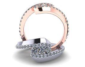 3D printable model Twisting ring