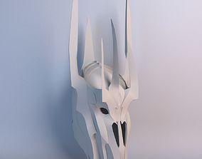VR / AR ready Sauron Helmet Lowpoly Model