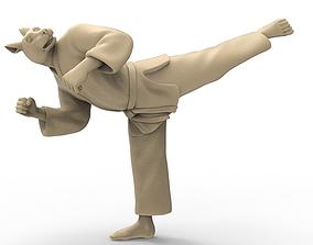 3D printable model Rabbit Back Kick
