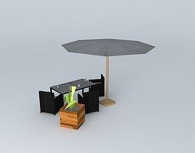 Garden furniture Miami Maisons du Monde 3D
