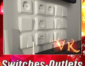 Electric Switch and Outlet Collection 3D model