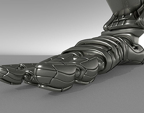 Robot legs version 2 rigged and animated 3D model