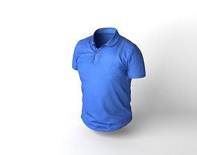 Blue T-shirt 3D asset