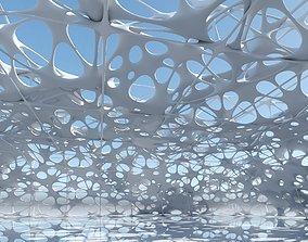 3D model Futuristic Architectural Structure 9