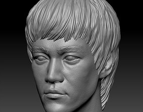 3D printable model bust Bruce Lee