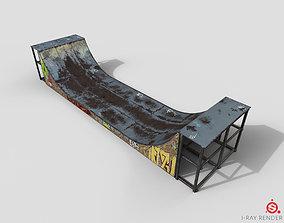 3D asset Huge Skate Pipe PBR Textures