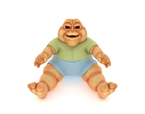 3D model Baby Sinclair with Hollow Earth