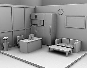 Office room 3D asset realtime