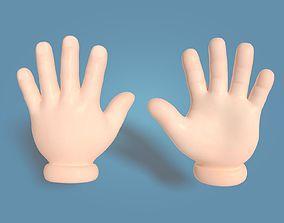 3D model Cartoon Hand Textured