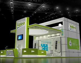 3D model 10x6Mtr Exhibition stand three side open