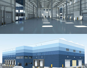 3D Warehouse Logistic interior and exterior