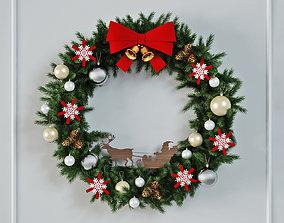 Christmas Wreath 3D wall