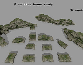 sandbag 3D model low-poly